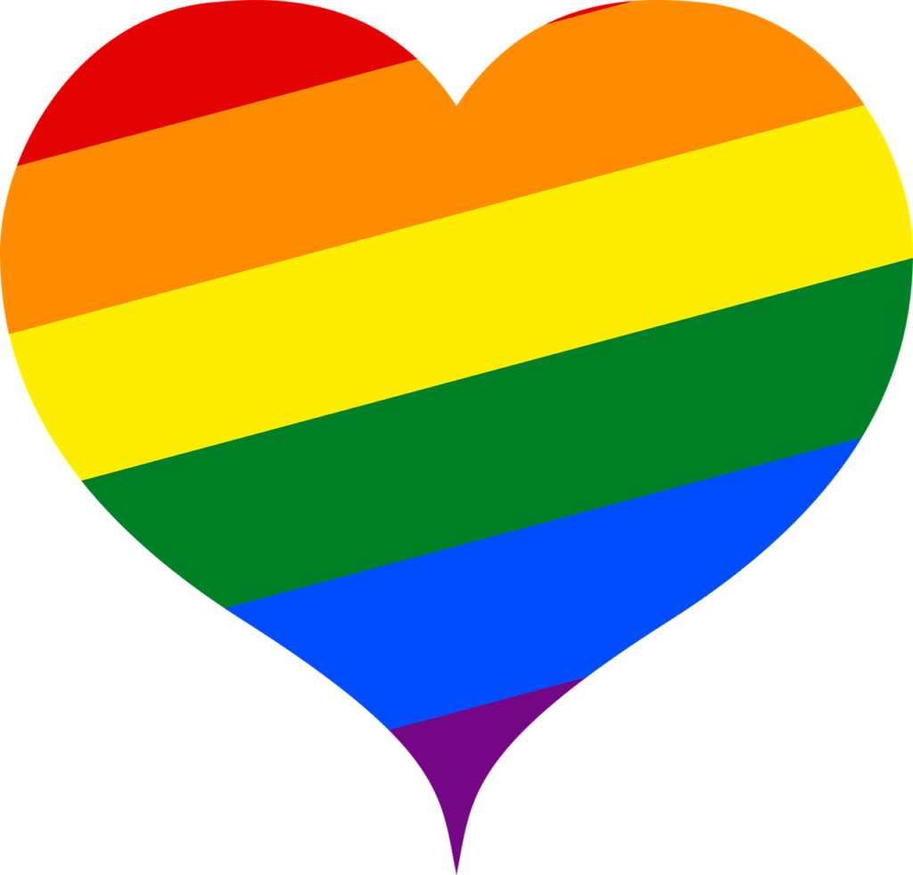 Un cuore, un arcobaleno [foto di Maiconfz, via pixabay, CC0 Creative Commons, Libera per usi commerciali, Attribuzione non richiesta]