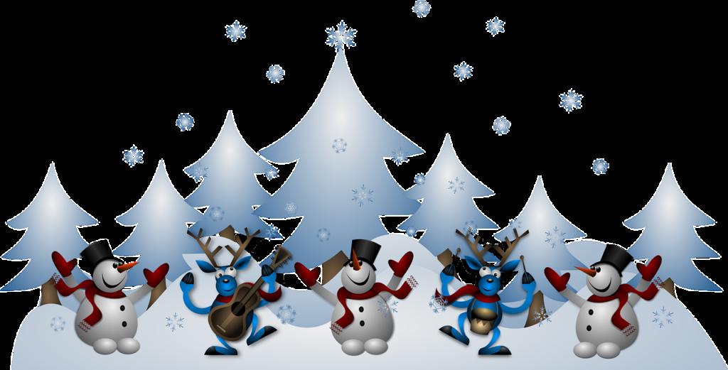 Pupazzi di neve - Natale [grafica by OpenClipart-Vectors, via pixabay, CC0 Creative Commons, Libera per usi commerciali, Attribuzione non richiesta]