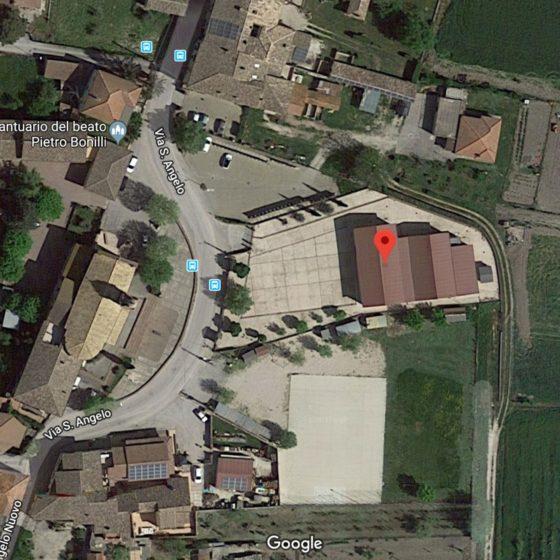 DanzaTrevi sede di Cannaiola, via Sant'Angelo, anno accademico 2019-2020 da Google Maps